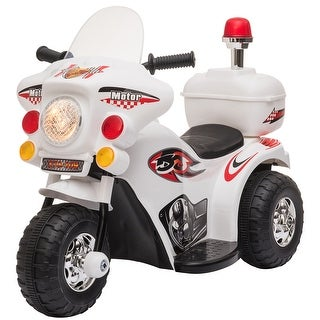 Link to Aosom Ride-on Electric Motorcycle for Kids with Music & Horn Buttons, Stable 3-Wheel Design, & Rear Storage Space Similar Items in Bicycles, Ride-On Toys & Scooters