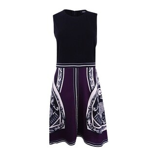 DKNY Women's Printed Fit & Flare Dress