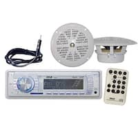 Marine AM/FM-MPX PLL Tuning Radio w/SD/MMC & USB With Two 4 Inches Speakers & Antenna