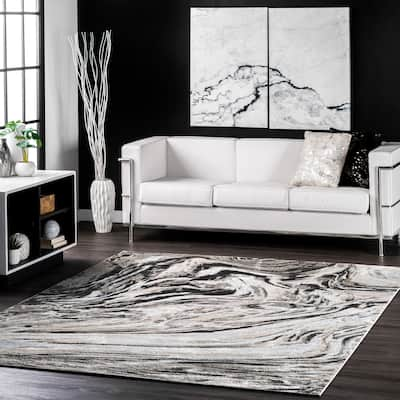 nuLOOM Drea Marble Abstract Area Rug