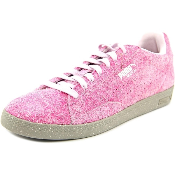 Puma Match Lo Elemental Women Round Toe Canvas Pink Sneakers