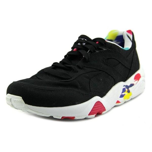 a5e4ffb51a1c Shop Puma R698 Blur Wn s Women Round Toe Canvas Black Sneakers ...