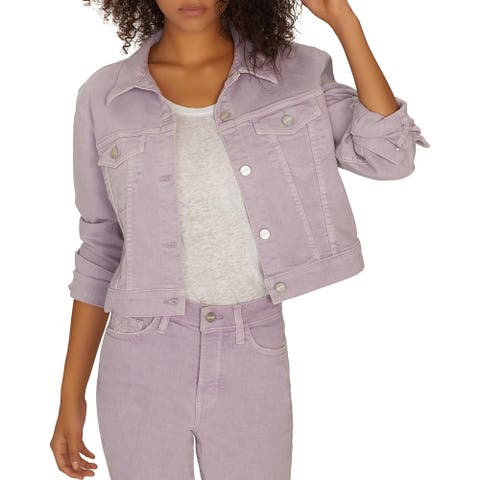 Sanctuary Womens Stevie Jean Jacket Denim Crop - Charm Lilac