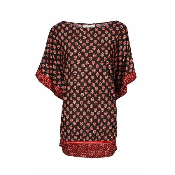 MICHAEL Michael Kors Women's Dolman Printed Dress Swim Cover - Chocolate - XS/S