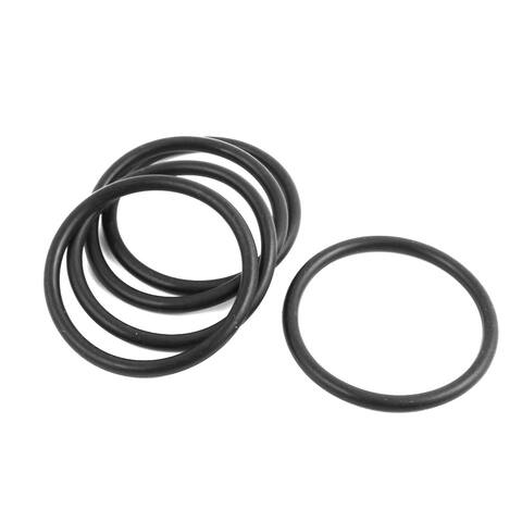 Rubber 65mm x 55mm x 5mm Oil Seal O Rings Gaskets Washers Black 5Pcs