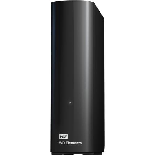 """WD-WDBWLG0040HBK-NESN-R WD Elements WDBWLG0040HBK-NESN 4 TB External Hard Drive - USB 3.0 - Desktop - Black - 1 Pack - Retail"""