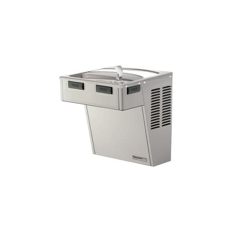 Halsey Taylor HAC8PV-NF Stainless Steel ADA Wall Mounted Single Station Indoor Water Fountain Cooler - Barrier Free