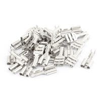 35 Pcs Silver Tone 19mm Length Female Spade Crimp Terminal Connectors