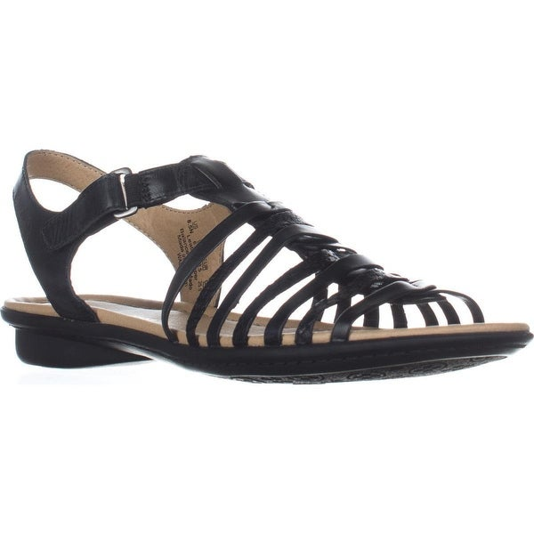 naturalizer Wade Flat Comfort Sandals, Black