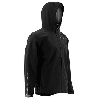 Huk Men's Packable Black Large Rain Jacket