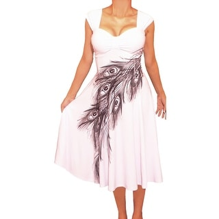 Link to Funfash Plus Size Women Cold Shoulders White Floral Dress Made in USA Similar Items in Dresses