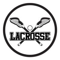 """Club Pack of 12 Black and White Lacrosse Cutout Party Decorations 10"""""""