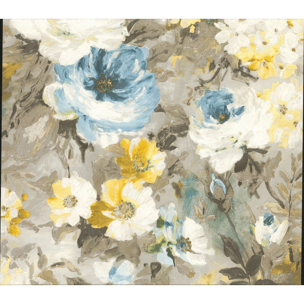 Brewster  2835-SY5112P  Deluxe 57-13/16 Square Foot - Macau - Unpasted Vinyl Wallpaper - Blue (Blue)
