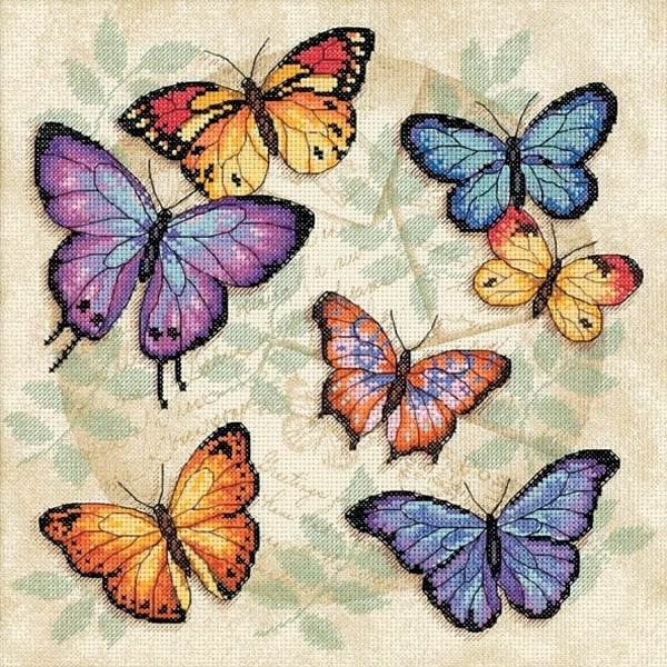 "Butterfly Profusion Counted Cross Stitch Kit-11""X11"" 14 Count"