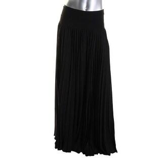 Catherine Malandrino Womens Silk Pleated A-Line Skirt - 4
