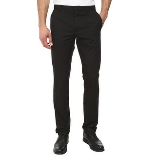 Hugo Boss Himmer Mens Slim Fit Flat Front Dress Pants Black 40 Regular