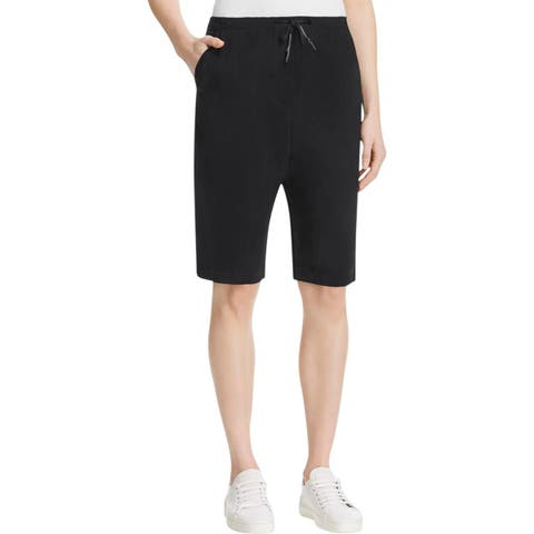 DKNY Womens Harem Shorts Textured Rubber Cord