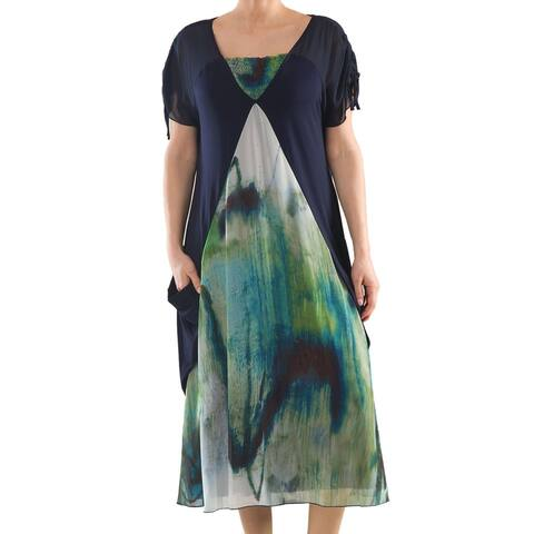 Fluid Dress - Sizes 14, 16, 18 & 20 - Plus Size Clothing - La Mouette Collection