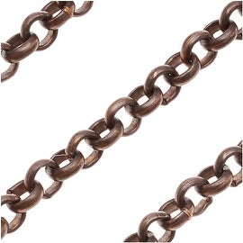 Vintaj Natural Brass 3.5mm Round Rolo Chain - Bulk By The Foot