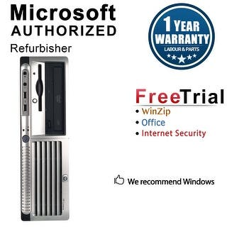 HP DC7700 Desktop Computer SFF Core 2 Duo E6300 1.86G 2GB DDR2 80G Windows 10 Pro 1 Year Warranty (Refurbished) - Silver|https://ak1.ostkcdn.com/images/products/is/images/direct/92888dd48a129ddb653d00290eeb306232da0c25/HP-DC7700-Desktop-Computer-SFF-Core-2-Duo-E6300-1.86G-2GB-DDR2-80G-Windows-10-Pro-1-Year-Warranty-%28Refurbished%29.jpg?impolicy=medium