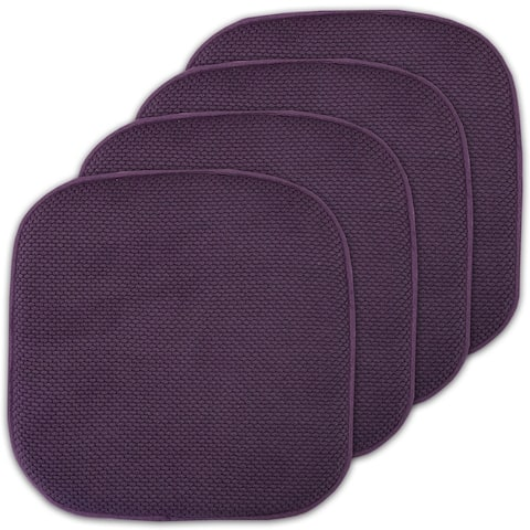 16x16 Memory Foam Chair Pad/Seat Cushion Pairs with Non-Slip Backing - 16 X 16
