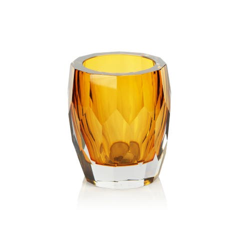 Giacomo Hand Made Cut Polished Glass Vase/Hurricane