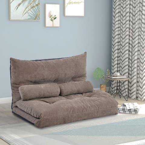 Adjustable Floor Sofa, Lazy Sofa Sleeper Bed for Bedroom/Living Room/Balcony