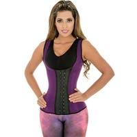 Fiorella Shapewear Sports Latex Vest Waist Cincher Trainer Corset Purple Fajas Chaleco Deportivo Reductoras Morado Colombianas