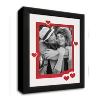 Heart & Love Picture Frame - Black Wood Frame With Heart Shaped Double Mat for 4x6 photo - black #2