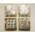Statements2000 Gold/Silver Metal Wall Art Accent Sculpture by Jon Allen (Set of 4) - Phenomena - Thumbnail 2