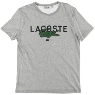 Lacoste Mens Graphic Tee Regular Fit Crew Neck - L