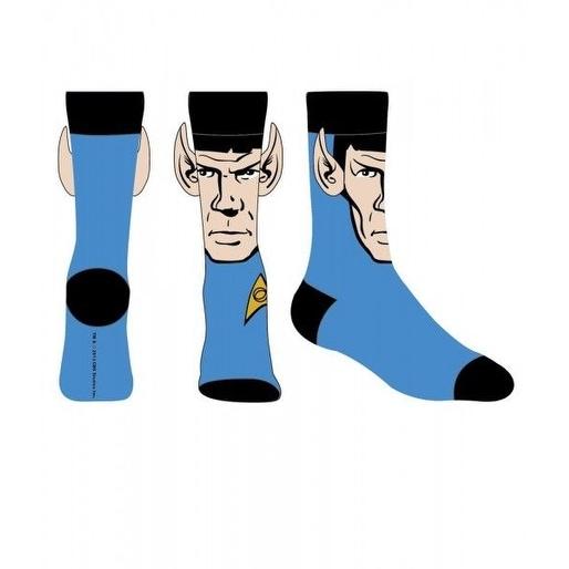 Star Trek Spock Men's Blue Crew Socks with Jumbo Ears