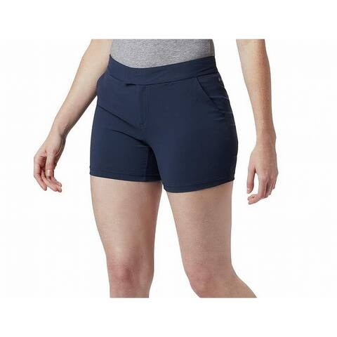 Columbia Women's Shorts Navy Blue Size 8 Armadale Stretch Front-Tab Solid