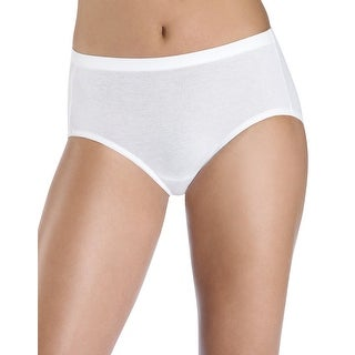 Hanes Women's Cotton Stretch Low Rise Brief with ComfortSoft Waistband 3-Pack - 7