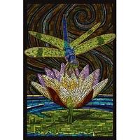 Dragonfly - Paper Mosaic - LP Artwork (100% Cotton Towel Absorbent)
