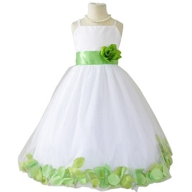 Flower Girl Dresses Rose Petal Wallao White (Baby - 14) Apple Green