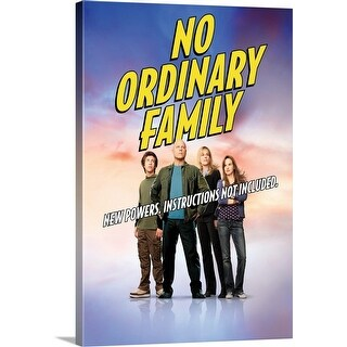 """No Ordinary Family - TV Poster"" Canvas Wall Art"