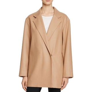 French Connection Womens Pea Coat Textured Long Sleeves
