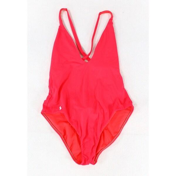 3e59c655 Polo Ralph Lauren Pink Womens Size Large L One-Piece Swimwear