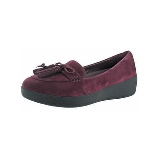 Fitflop Womens Tassel Bow Loafers Suede Cushioned