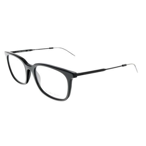 DIOR HOMME BLACKTIE210 Black Matte Square Eyeglasses - 53-19-150