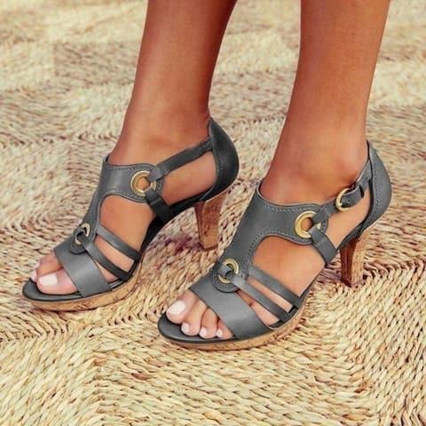 Women Sandals Ladies Shoes For Peep Toe Cross