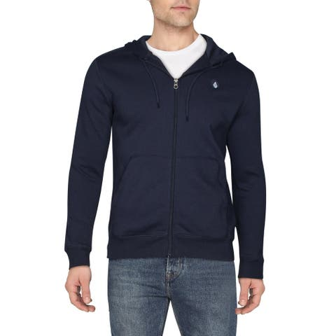 Volcom Mens Foreman Hoodie Sweatshirt Full Zip - Dark Navy - S