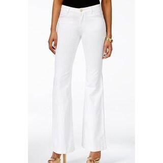 Michael Kors NEW White Women's Size 16 Flare Leg Stretch Jeans