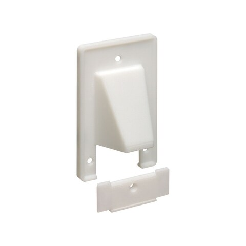 Monoprice Reversible 2pc 1-Gang Low Voltage Scoop Wall Plate White