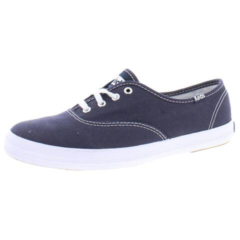 Keds Womens Champion Casual Shoes Dream Foam Front Lace - Navy