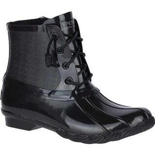 Sperry Top-Sider Women's Saltwater Duck Boot Black Rubber
