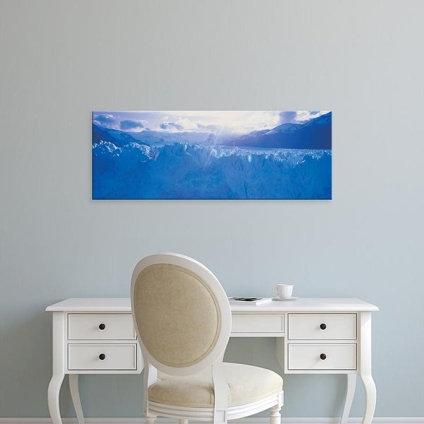 Easy Art Prints Panoramic Image 'Glacier, Moreno Glacier, Los Glaciares National Park, Patagonia, Argentina' Canvas Art