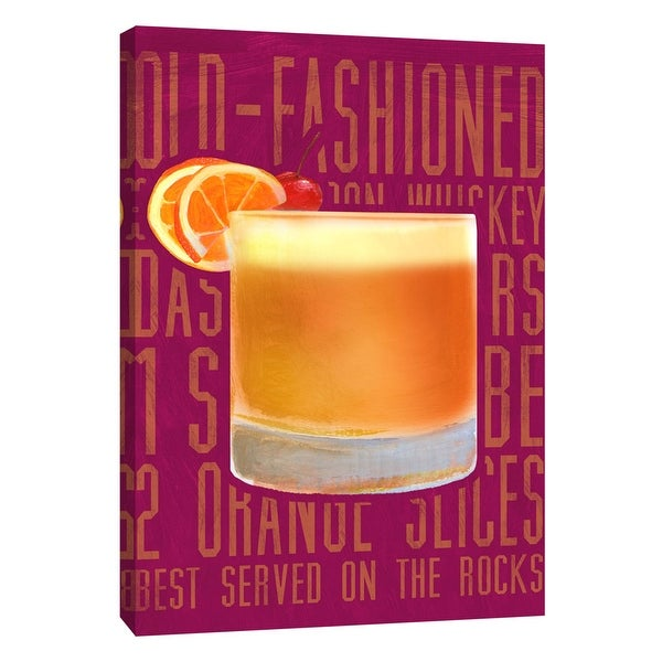 "PTM Images 9-105725 PTM Canvas Collection 10"" x 8"" - ""Old Fashioned (Vertical)"" Giclee Liquor & Cocktails Art Print on Canvas"