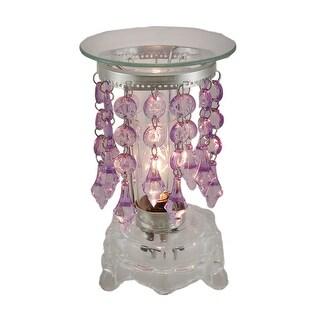 Purple Glass Bead Fringe Electric Oil/Tart Warmer w/Dimmer Switch